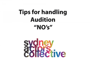 "How to handle an audition ""NO"""